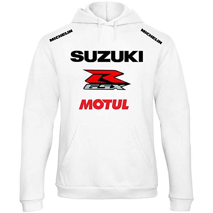 Felpa Suzuki MOTUL Racing Bianca