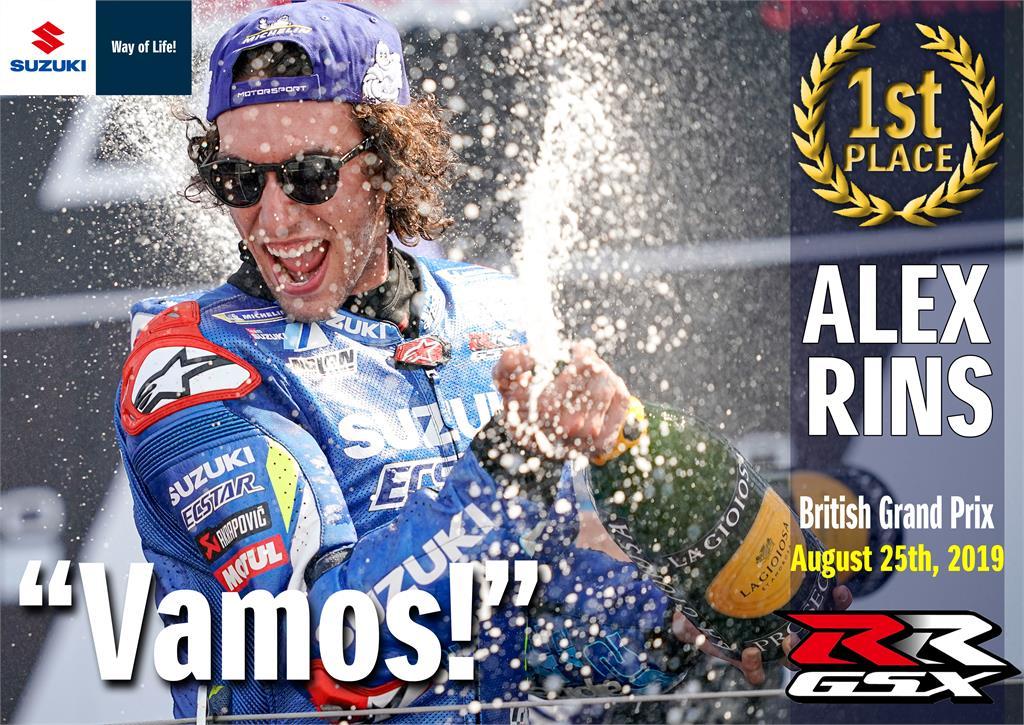 alex rins vittoria GP Inghilterra