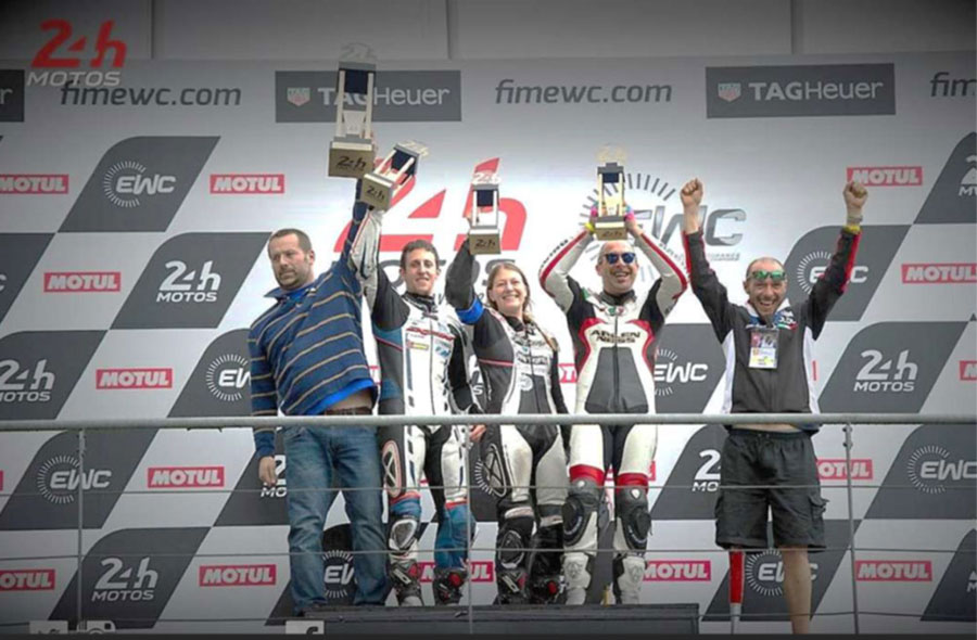 Le Mans 2017 podio Supertwin