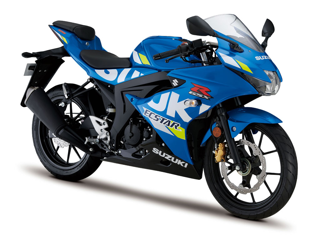 Suzuki GSX-R125 blu GP